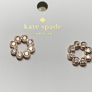 Kate Spade gold rose earrings